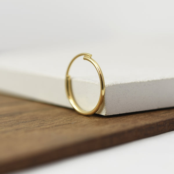 Thin 22K Gold Filled Ring Featuring Interlocking Circle Arcs n°7 AgJc -5