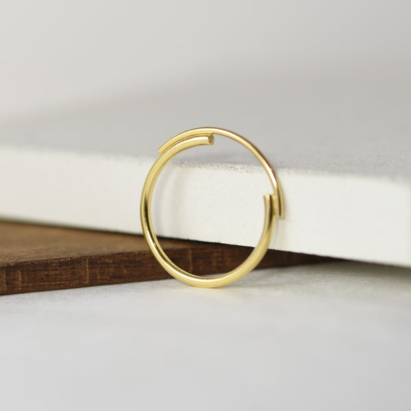 Thin 22K Gold Filled Ring Featuring Interlocking Circle Arcs n°7 AgJc -4