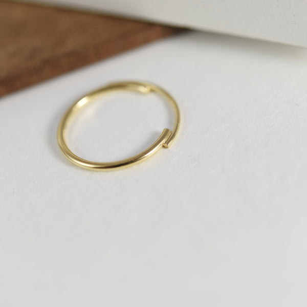 Thin 22K Gold Filled Ring Featuring Interlocking Circle Arcs n°7 AgJc -6