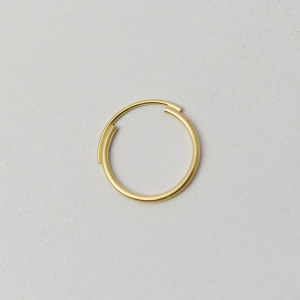 Thin 22K Gold Filled Ring Featuring Interlocking Circle Arcs n°7 AgJc -8