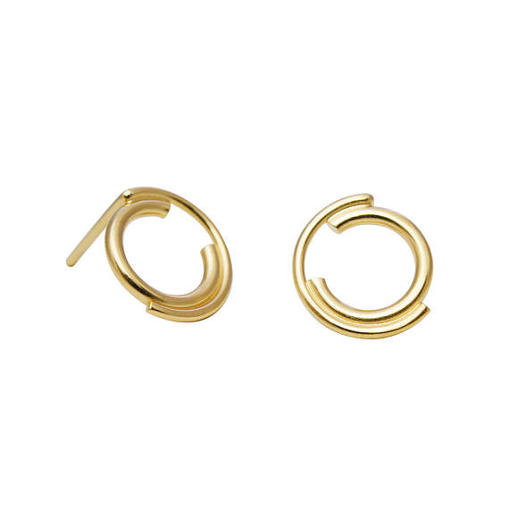 Unique gold filled stud earrings N°9 AgJc -3