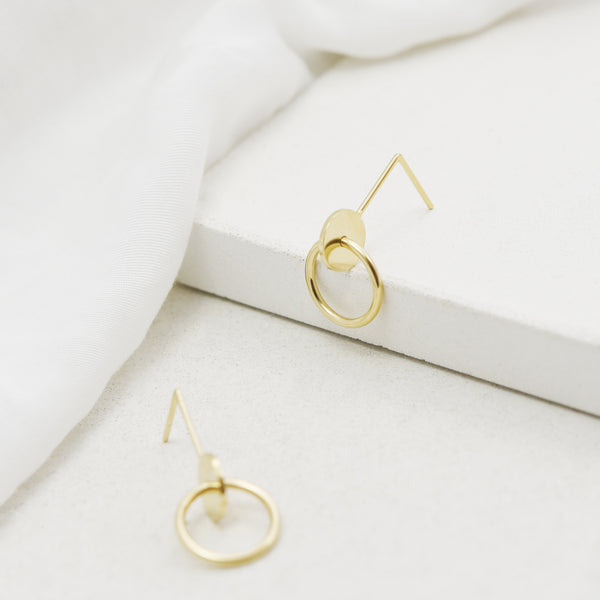 Interlocking circles gold earrings N°11