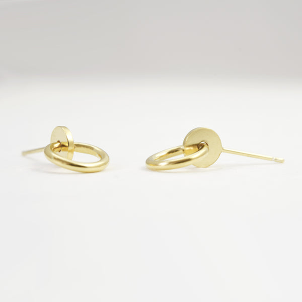 geometric stud earrings by AgJc