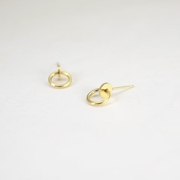geometric dot and circle earrings by AgJc