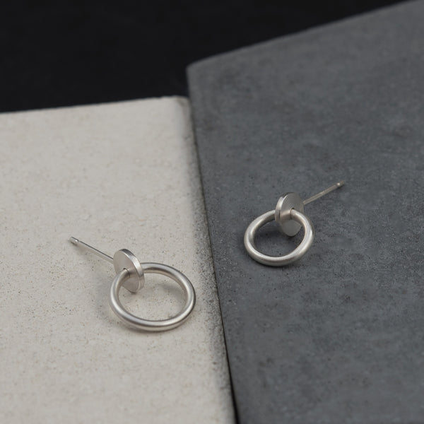 Pair of silver studs handmade by AgJc duo