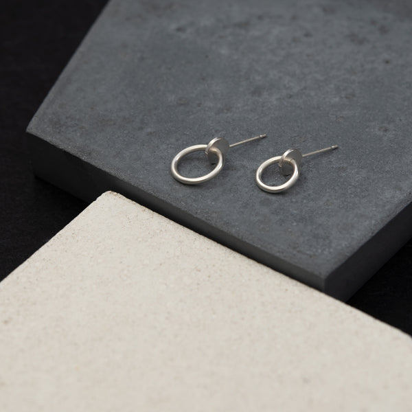 handmade silver earrings by AgJc duo