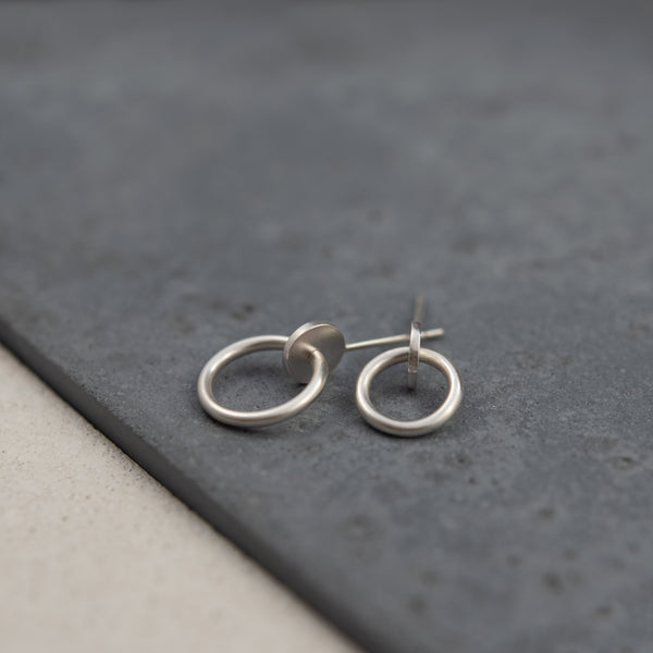 Silver studs designed and handmade by AgJc