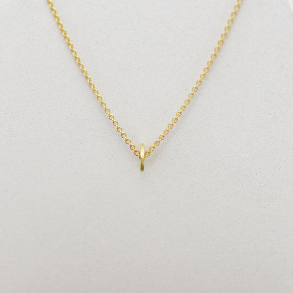 Dainty DOT necklace N°16 in silver or 22k gold filled