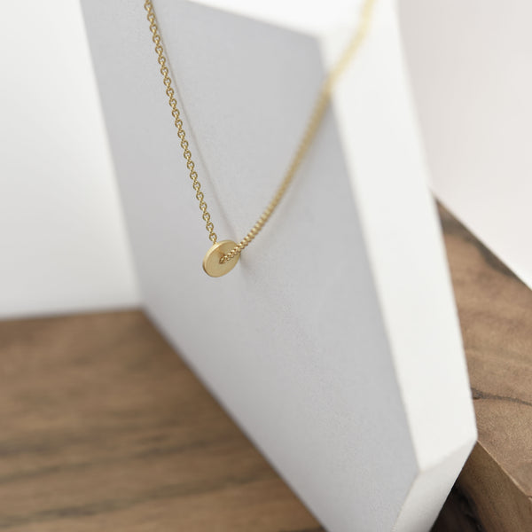 Lightweight small round necklace designed by AgJc