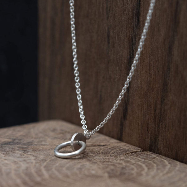 Long necklace in silver by AgJc