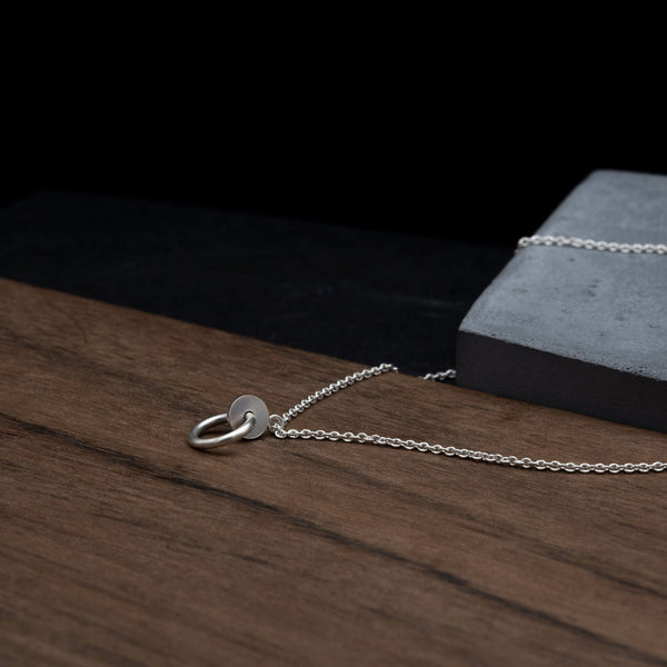 Long necklace with pendant | Circle and Dot N°17