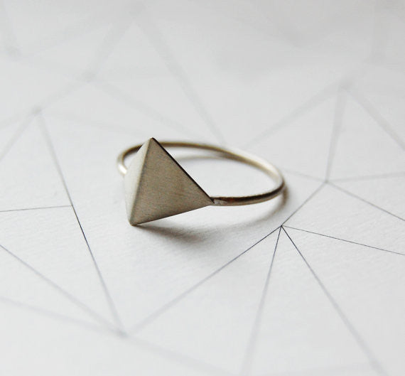 Faceted ring N°5 AgJc  - 1