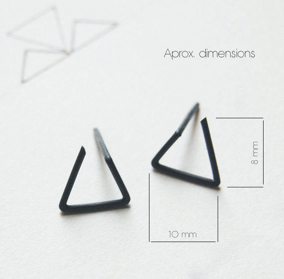 Line triangle earrings N°6 AgJc  - 3