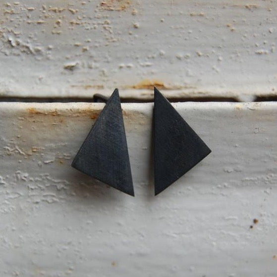 Geometric pendants earrings N°8 AgJc Oxidized / 1mm - 1