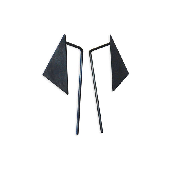 Geometric pendants earrings N°8 AgJc  - 6