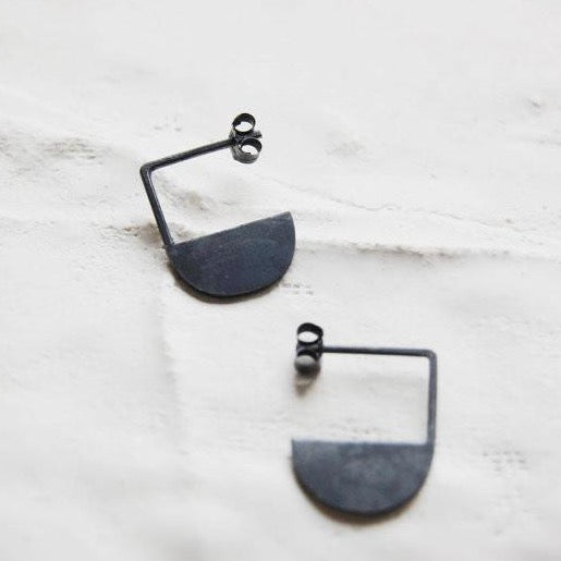 Geometric pendants earrings N°11 AgJc  - 1