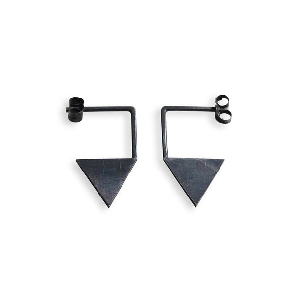 Geometric triangle earrings N°12 AgJc  - 6