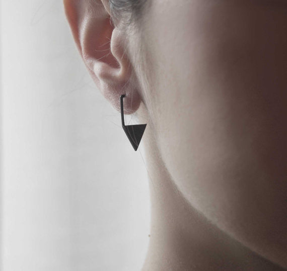 Geometric triangle earrings N°12 AgJc  - 2