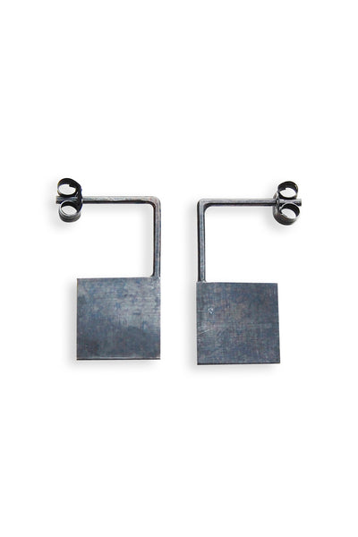 Geometric square earrings N°13 AgJc  - 6