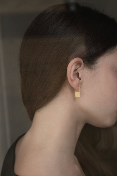 Geometric square earrings N°13