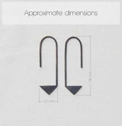 Pointy pendants earrings N°17 AgJc  - 2