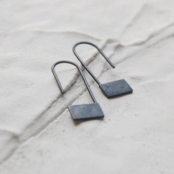 Rectangle pendants earrings N°18 AgJc  - 2