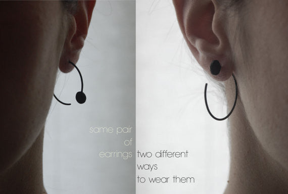 Dot hoop earrings N°21 AgJc  - 3