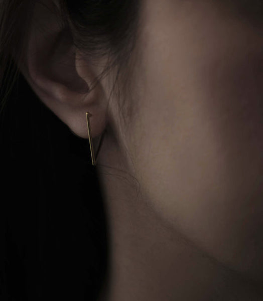 Triangle hoop earrings N°24 in silver or gold filled AgJc  - 3