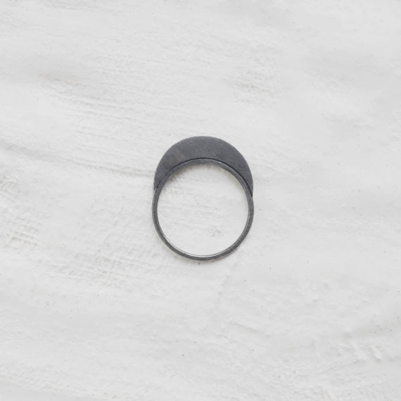 Quarter moon ring N°36 AgJc  - 1