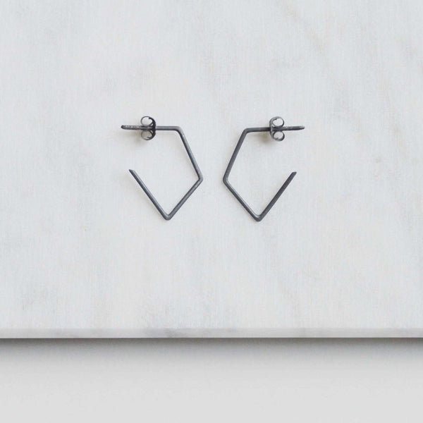 Geometric minimal earrings N°41 AgJc  - 3