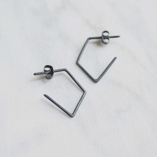Geometric minimal earrings N°41 AgJc  - 1