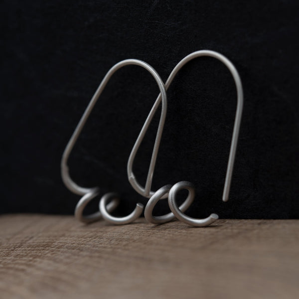 Twisted hoops in silver N°4