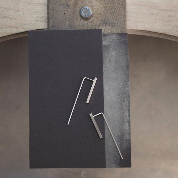Minimalist industrial earrings N°2