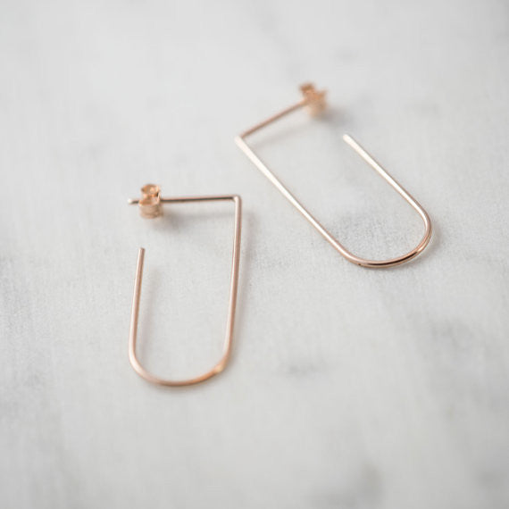 Minimalist line pendants N°5 in silver or rose gold filled AgJc  - 1