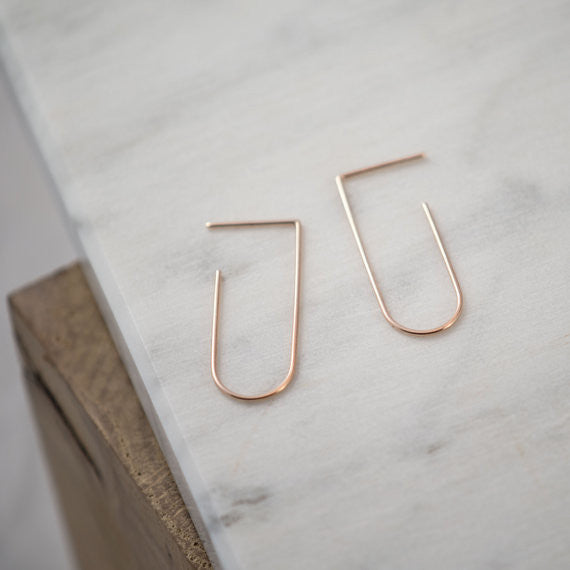 Minimalist line pendants N°5 in silver or rose gold filled AgJc  - 2