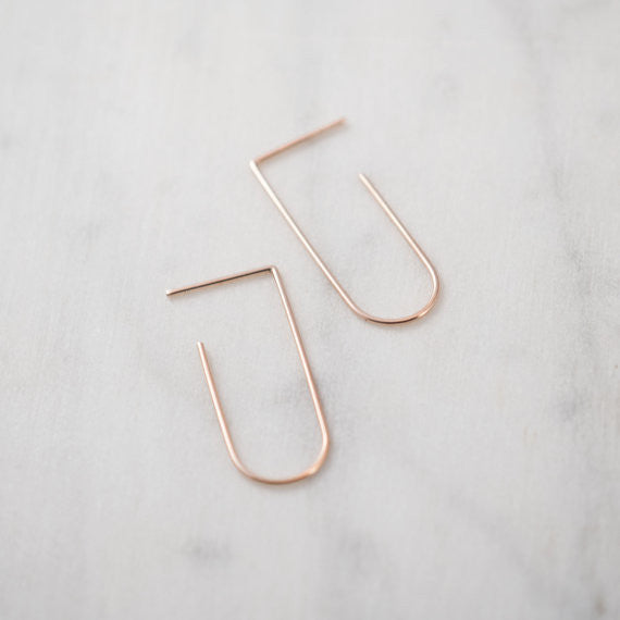 Minimalist line pendants N°5 in silver or rose gold filled AgJc  - 3
