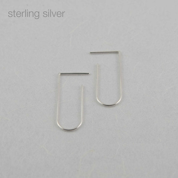 Minimalist line pendants N°5 in silver or rose gold filled