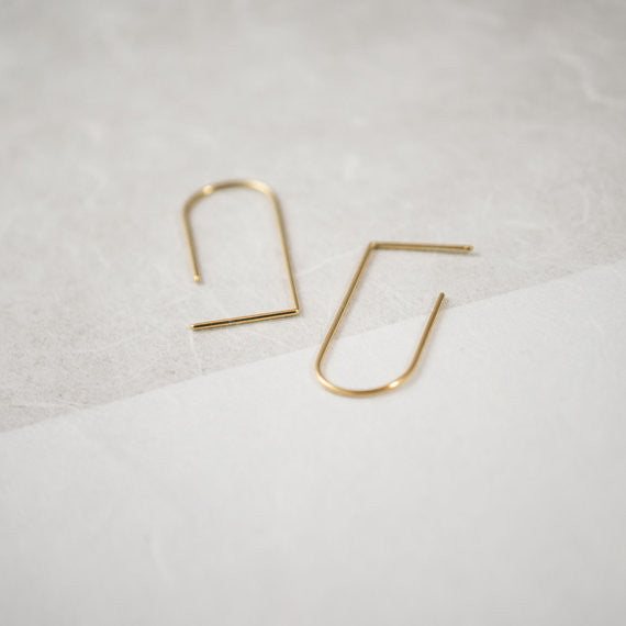 Minimalist line pendants N°5 in silver or gold filled AgJc  - 1