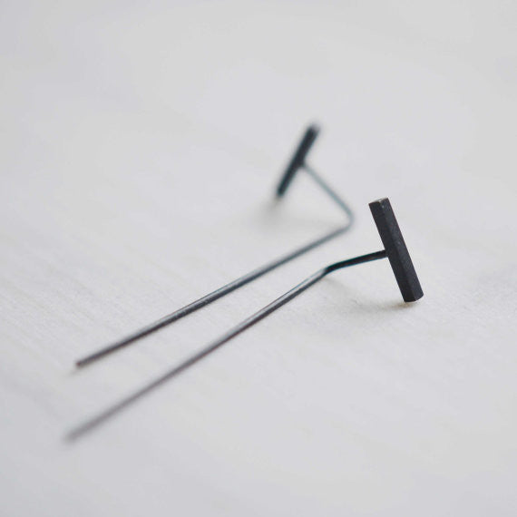 long bar earrings N°9 AgJc  - 1