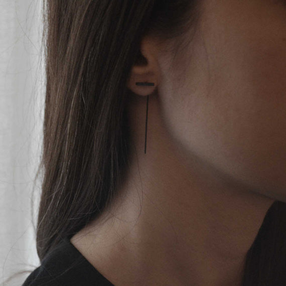 long bar earrings N°9 AgJc  - 4