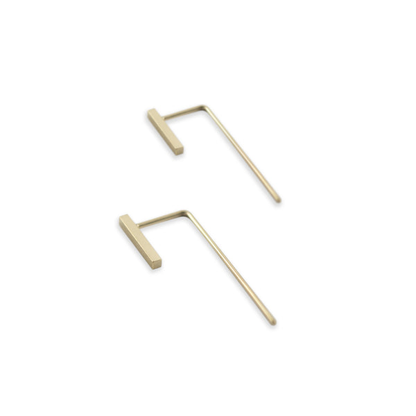 Minimalistic bar ear jackets N°11 in yellow gold filled AgJc  - 6