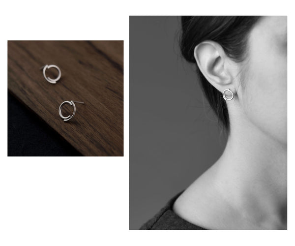 Concentric circles studs N°1