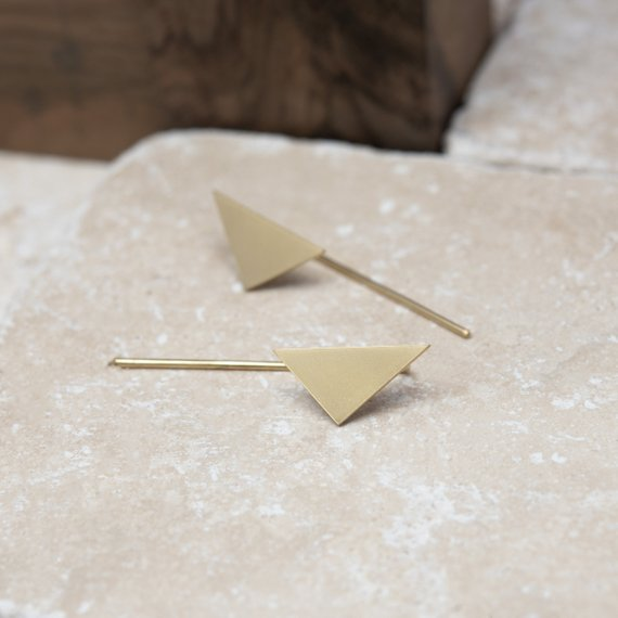 Triangle boho earrings by AgJc Bijoux