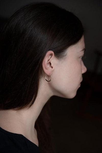 Timeless classy hoop earrings for a modern style by AgJc