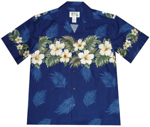 Hibiscus Row (Colored) Hawaiian Shirt
