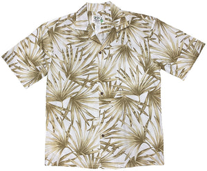 Ky's White Flourishing Fan Palms Hawaiian Shirt.