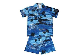 Boy's Set 2 / Navy Blue World War 2 Planes Boy's Cabana Set