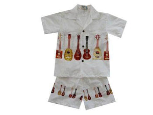 Boy's Set 2 / White Ukulele Collection Boy's Cabana Set