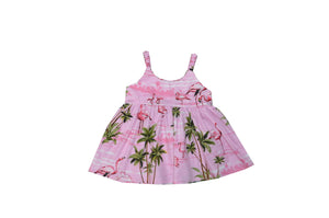 Girl's Bungee Dress 6M / Pink Flamingo Fever Girl's Hawaiian Bungee Dress
