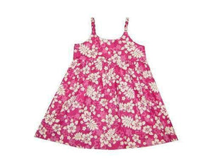 Girl's Bungee Dress 6M / Pink Floral Silhouette Girl's Hawaiian Bungee Dress
